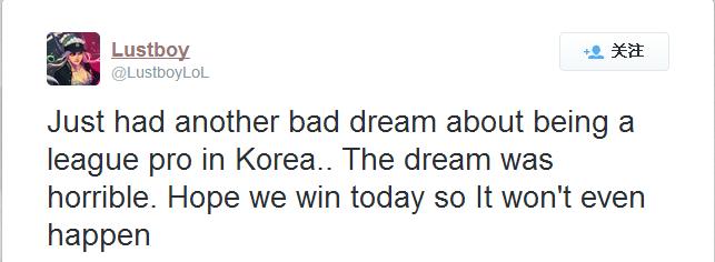 TSM辅助发表推文:韩国电竞在水生火热