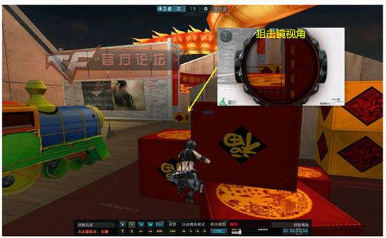爆破模式小学生广场保卫者狙击卡点 点位介绍
