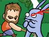农夫暴打兔子