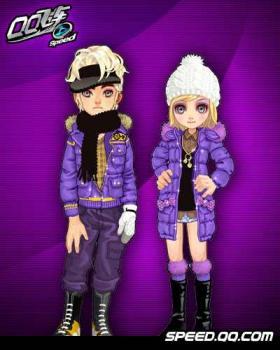 紫色qq情侣头像