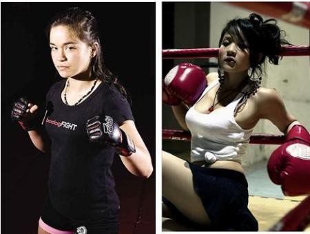 美女擂台格斗王之争女博士vs越南妞