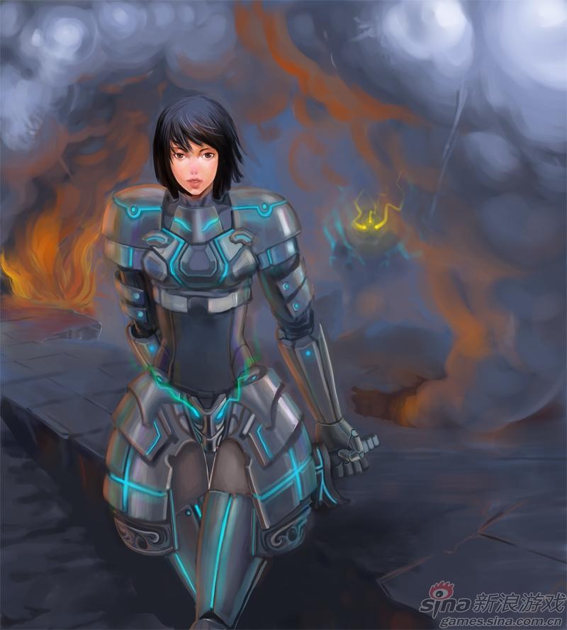 玩家手绘 战场美女