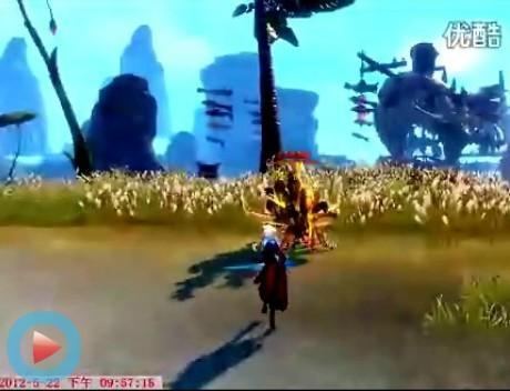 剑士技能:傲斩-天舞浮空-满月斩-雷光演示视频