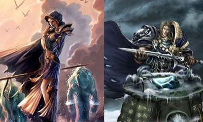 《魔兽世界》――阿尔萨斯 吉安娜