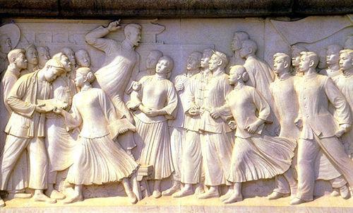 北京人民英雄纪念碑《五四运动》浮雕