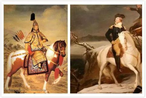 乾隆和华盛顿骑马图