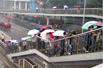 实拍北京清晨寒雨(组图)