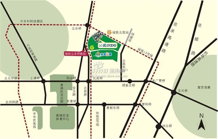 公园2008 交通图 位置图