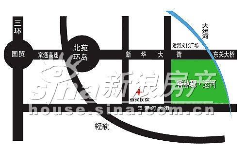 香林郡・运河 交通图 位置图