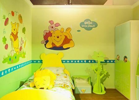 这组儿童房到处都是可爱的小熊