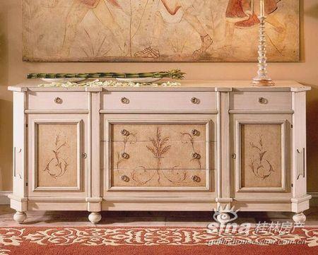 沙发边柜图片; 原乡墅软装:身份和品位的浪漫演绎