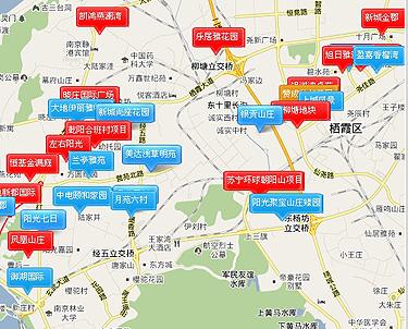 南京城北楼市地图