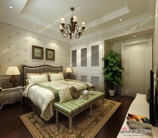 图为建邦华庭c户型样板间(欧式田园风格)卧室