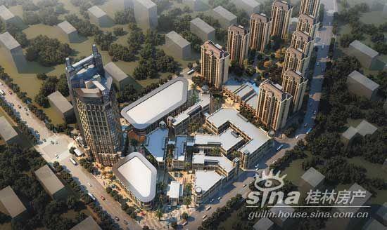 桂林东盟城市广场鸟瞰图