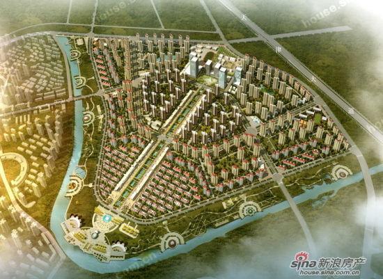天津津南新城鸟瞰图