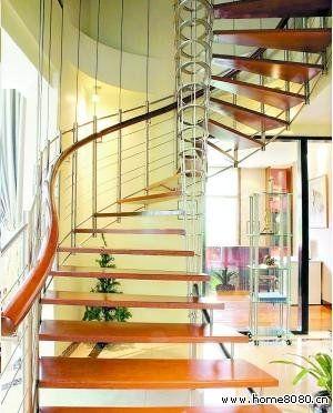 家居设计:小户型复式楼装修效果图之楼梯篇(11)