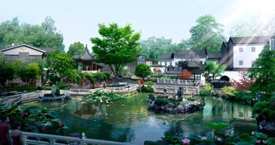 但是具有典型的中式建筑理念和醇正江南风情的建筑群实属罕见.图片