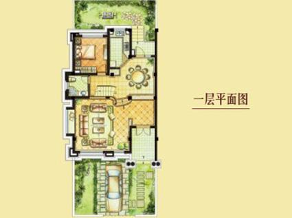 别墅一层平面图