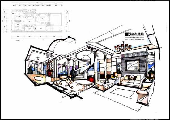 室内手绘效果图的设计说明从哪些方面写