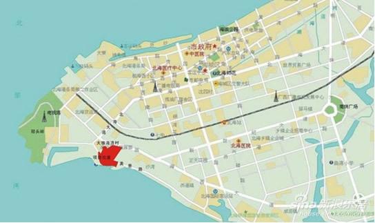 湛江区域旅游手绘地图