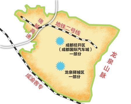 成都龙泉手绘地图