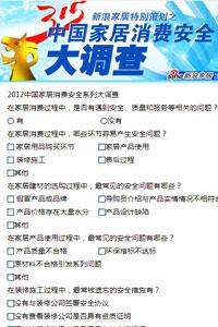 2012中国家居消费安全系列大调查