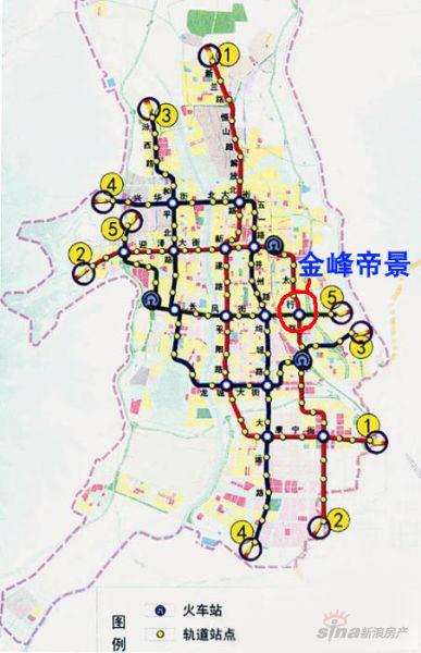 太原未来地铁规划图(2)-金峰帝景选址费尽心机 紧邻未来地铁换乘中