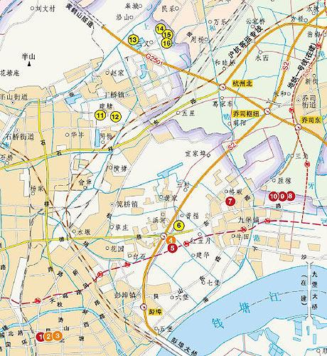 杭州市滨江区规划图