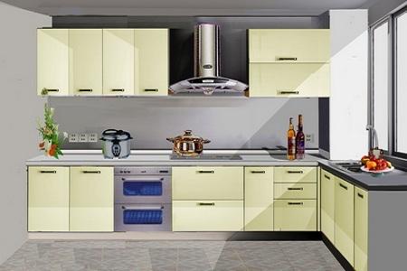 一点透视手绘图厨房