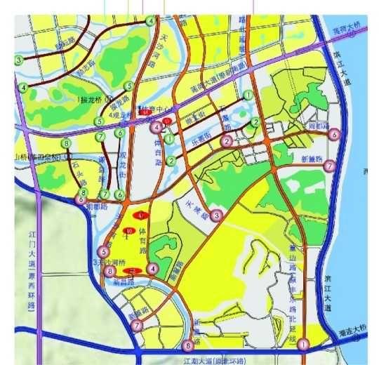 图为滨江新区规划图