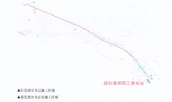 西工高压线路图