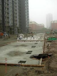 鸿业兴园 实景图 龙腾水系施工实景
