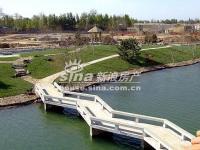 琉璃湖别墅 实景图 小桥
