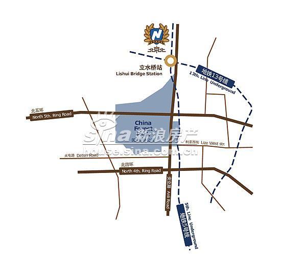 北京北 交通图 位置图