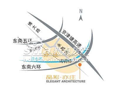 晶彩亦庄 交通图 位置图