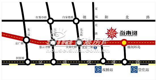 尚东阁 交通图 地图