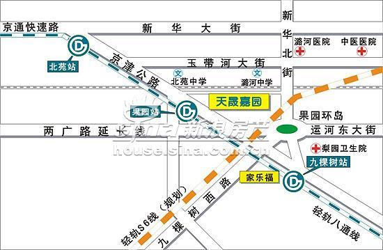 天晟嘉园 交通图 位置图