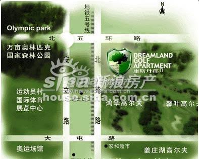 桂冠名园 交通图 地图
