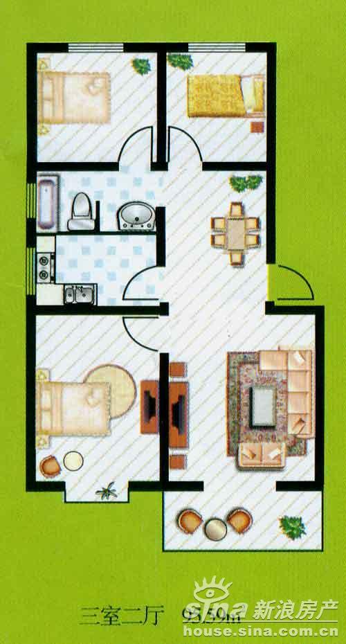 农村住房二层平面设计图展示