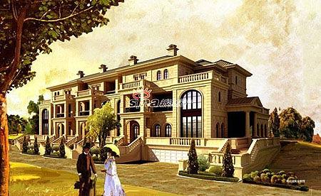 溪上凰庭排屋建筑风格采用欧式皇家建筑的经典代表