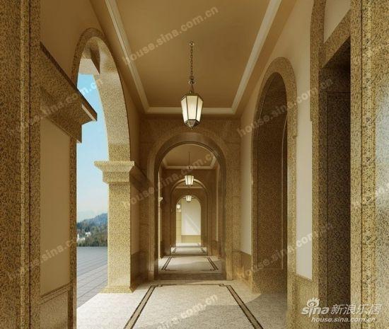 图为酒店式风雨连廊效果图-丽晶湾工程进度与项目特色