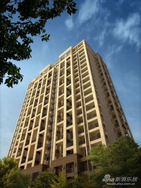 规划总住户数966户,由8栋法式精工小高层及沿街主题商业街组成.图片