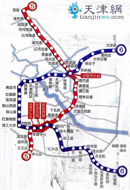 天津地铁5号线规划图图片
