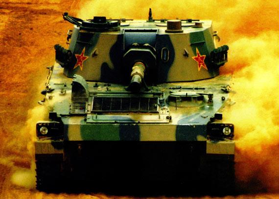 资料图:解放军89式自行榴弹炮快速行军