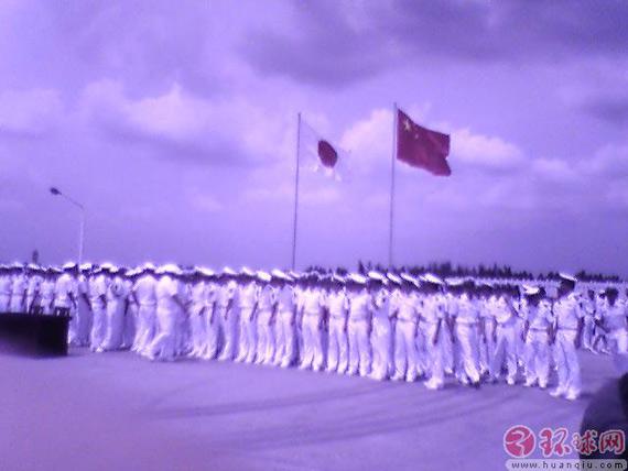 日本海上自卫队涟号驱逐舰抵达中国湛江港(图)