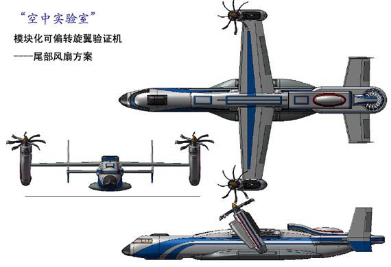 三视图; 第三届创新杯飞行器设计大赛获奖作品--空中