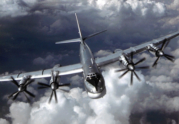 Data for: Russian Air Force Tu-95 strategic bomber flights