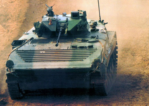 文章称中国86式步兵战车是克隆俄罗斯BMP-1战车