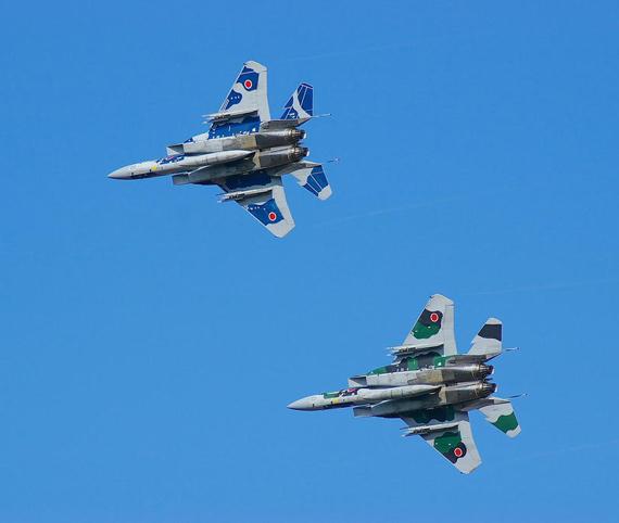 日本航空自卫队装备的F-15J战机在当时具有世界一流水平