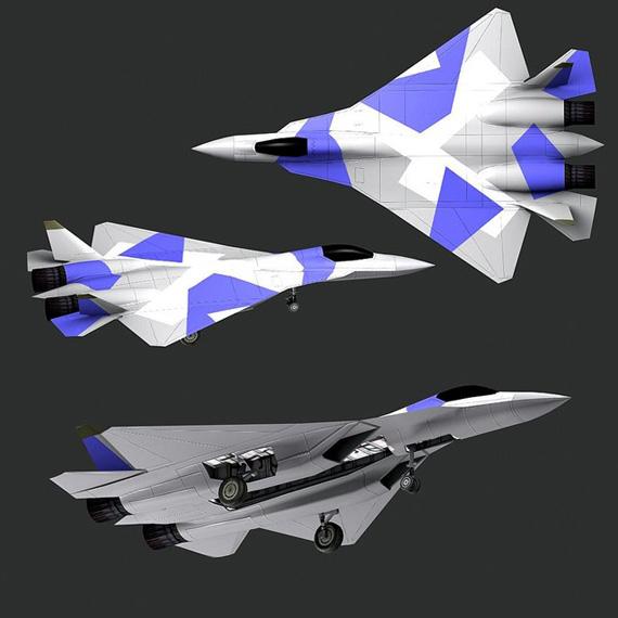俄罗斯推出的第五代战机方案设计图